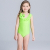 23cute flower stripes one piece girl water play swimwear