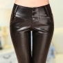 2014 FALL Europe America winter great quality PU leather women's pant