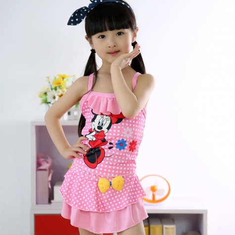 cartoon mickey mouse children girl swimwear swimsuit