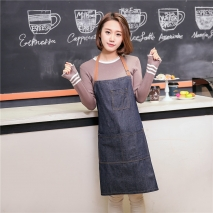 unisex denim pocket halter waiter apron chef apron housekeeping apron