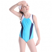 professional one-piece training swimwear girl child swimwear