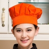 orange chef hatblack and white square print chef hat