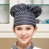 color 11black and white square print chef hat