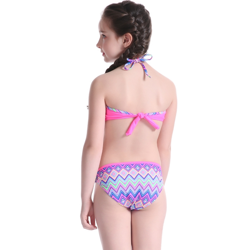 Two Pieces Teenager Girl Swimwear For Little Girl 25