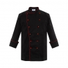 unisex black(red hem) coatpopular reefer collar unisex chef coat for work chef uniforms