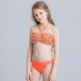 cute applique child girls swimwear