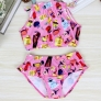 perfume bottle  two piece set teen girl  swimwear