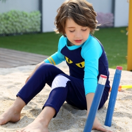 fashion ghost eye blue boy sunsuit swimwear