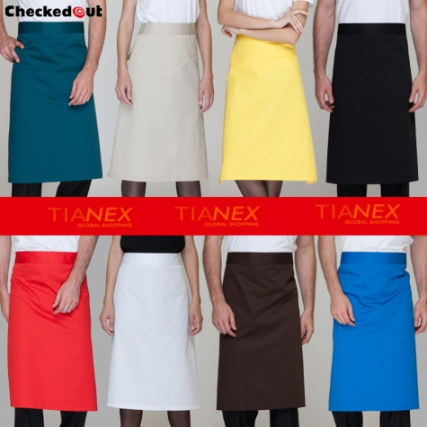 classic half length high quality chef aprons
