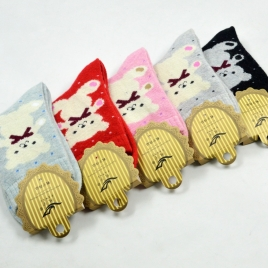 cute bear pattern wool thicken women sock