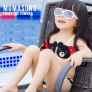 cute bear children girl swimsuit swimwear