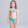 cartoon fish print two piece girl bikini swimwear