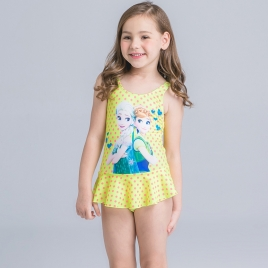 print two piece teen girl  swimwear set