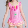 flower print one-piece girl swimwear