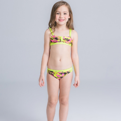 fashion camouflage stripes girl bikini swimwear