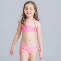 cute cartoon star halter girl bikini swimwear