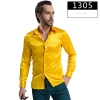 color 5fashion casual Imitation silk men shirt