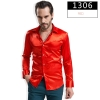 color 6fashion casual Imitation silk men shirt