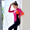 color 1elastic zipper women wetsuit swimwear