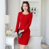 red dressfall charming design women office business dress
