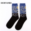 color 1fashion famous painting art printing socks cotton socks men socks women socks