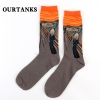 color 4fashion famous painting art printing socks cotton socks men socks women socks