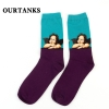 color 5fashion famous painting art printing socks cotton socks men socks women socks