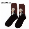 color 6fashion famous painting art printing socks cotton socks men socks women socks