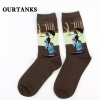color 10fashion famous painting art printing socks cotton socks men socks women socks