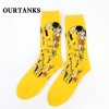 color 12fashion famous painting art printing socks cotton socks men socks women socks