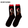 color 15fashion famous painting art printing socks cotton socks men socks women socks