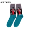 color 20fashion famous painting art printing socks cotton socks men socks women socks