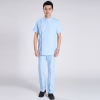 light blue doctor suitsshort sleeve summer side opening men doctor uniform set