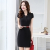 black dressKorea design formal office lady work dress