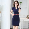 navy dressKorea design formal office lady work dress