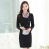 blackfashion sweaty long sleeve women dress for work