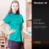 color 5summer restaurant wing up  collar waiting staff shirt uniforms