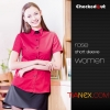 color 7summer restaurant wing up  collar waiting staff shirt uniforms