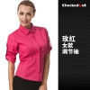 women rosecandy color western dished restaurant waiter shirts waiter uniforms