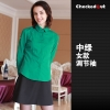 women greencandy color western dished restaurant waiter shirts waiter uniforms