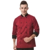 wine coatunisex rollover sleeve double breasted chef jacket coat