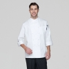 unisex whiteupgrade europe design chef jacket chef coat large size