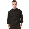 unisex blackupgrade europe design chef jacket chef coat large size