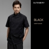 unisex black coatnew design restaurant head chef jacket blouse uniform