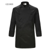 unisex black coatclothing button double breasted chef coat winter design