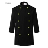 unisex black(green button) coatclothing button double breasted chef coat winter design