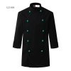 unisex black(blue button) coatclothing button double breasted chef coat winter design