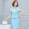 Light Bluenice office style work wear skirt suits uniform for women