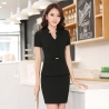 Blackshort sleeve business women uniform women skirt suits