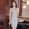 Light Grayshort sleeve business women uniform women skirt suits